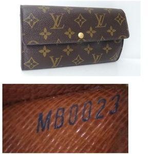 Authentic Louis Vuitton Monogram Leather Wallet